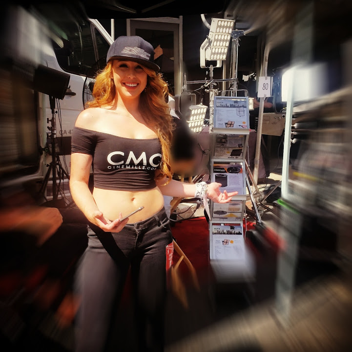 Mo_Licioussss at Cinemills Lighting & Grip Equipment Booth at the Cine Gear Expo LA 2016 Paramount Pictures