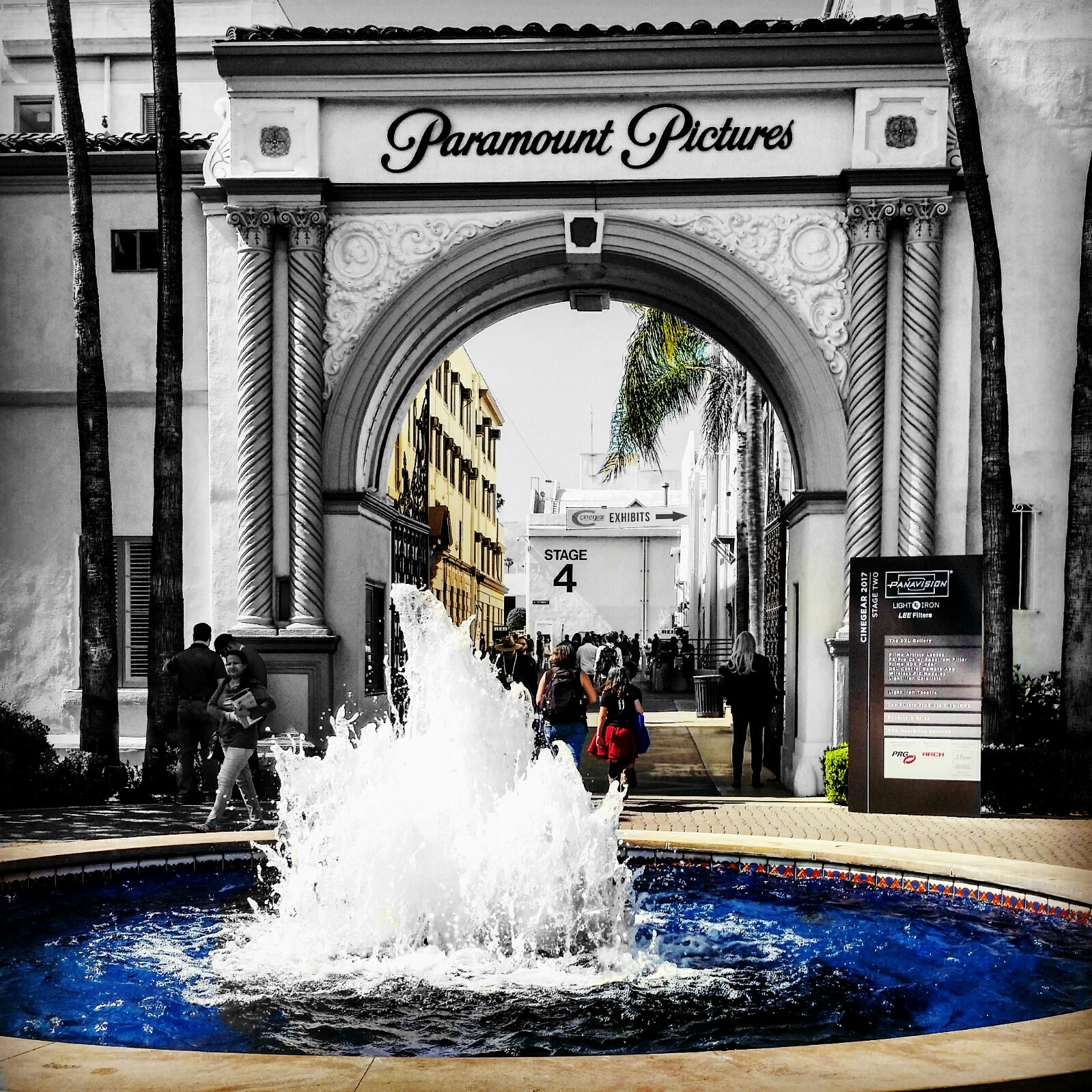 Paramount Pictures Bronson Waterfall Splash - Photo by Socialbilitty